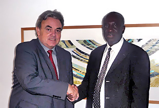 MICT Prosecutor Hassan B. Jallow and Willem Post, Director of International Affairs, City of The Hague