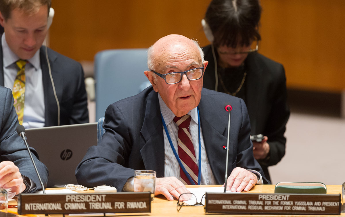 The President of the Mechanism for International Criminal Tribunals (MICT), Judge Theodor Meron