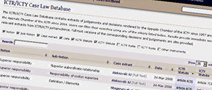 ICTR/ICTY Case Law Database