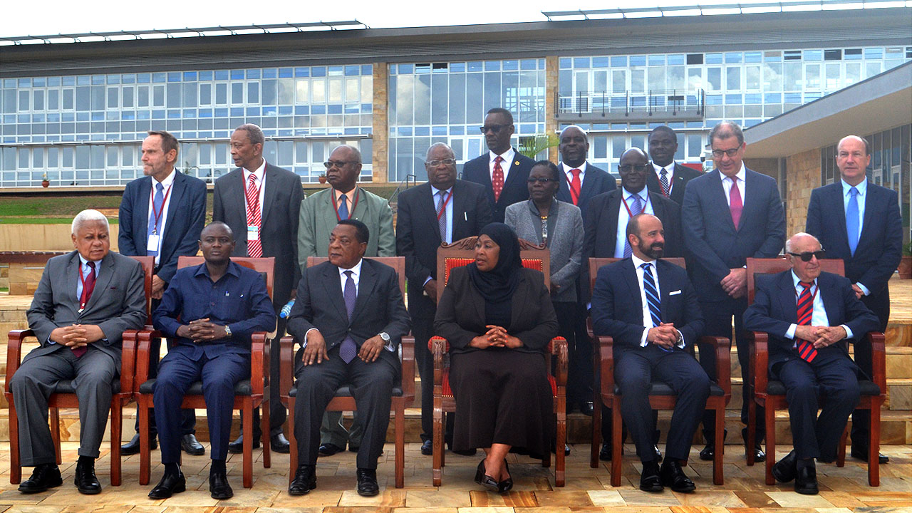 Picture of Vice President with senior UN officials, MICT judges and senior government officials from Tanzania