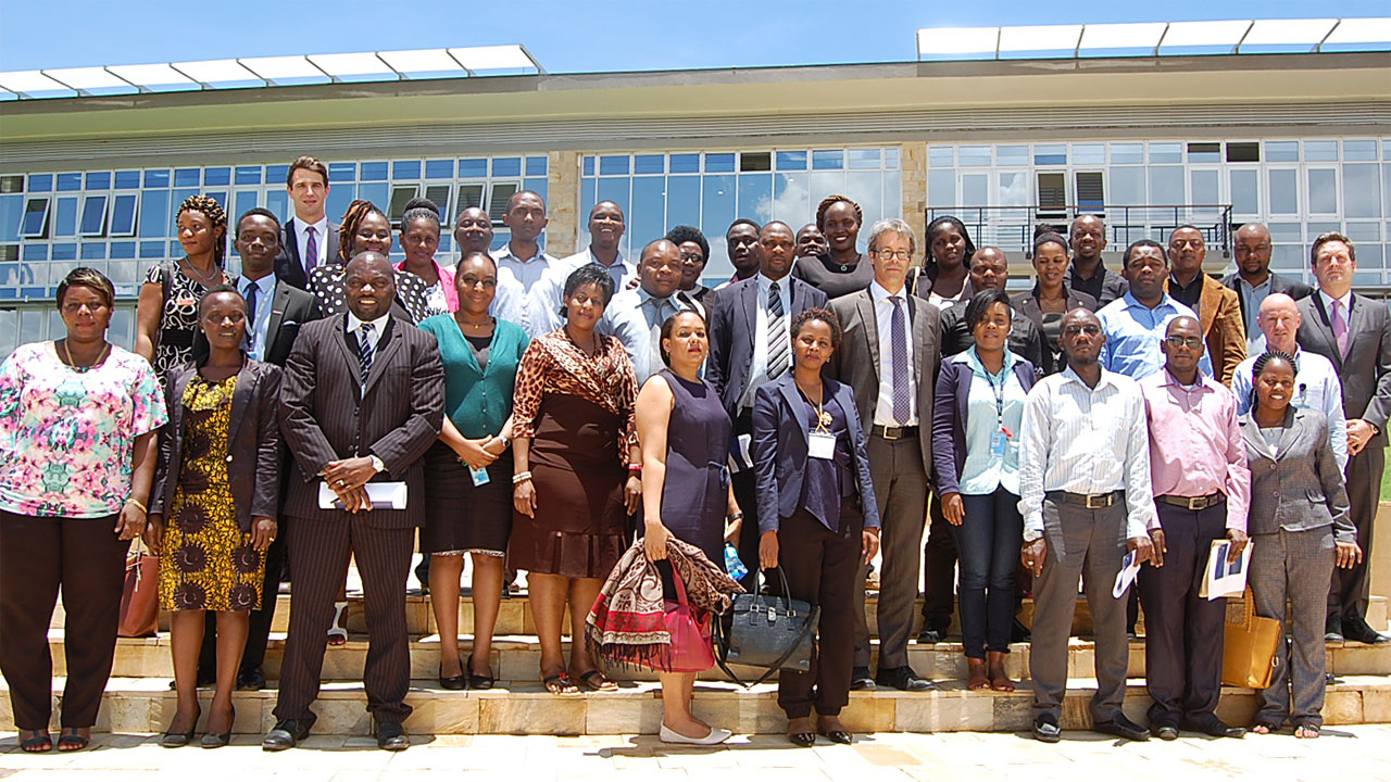 MICT officials with representatives of Tanzanian Judiciary at Arusha branch