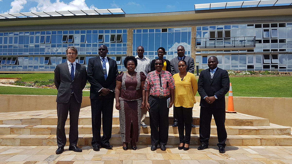 MICT officials with representatives from the Kenya National Cohesion and Integration Commission at Arusha branch