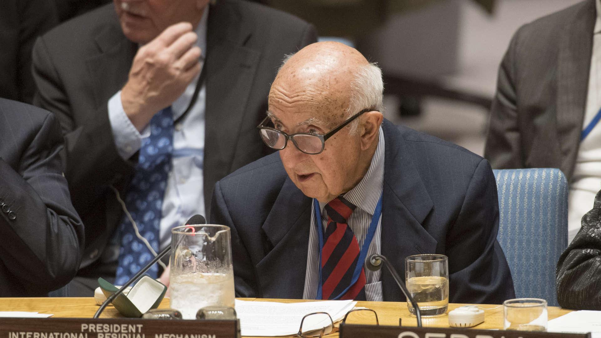 President of the Mechanism for International Criminal Tribunals, Judge Theodor Meron (UN photo)