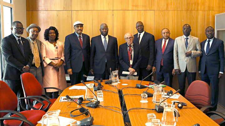 President Meron and the Judges and senior officials of the ECOWAS Community Court of Justice