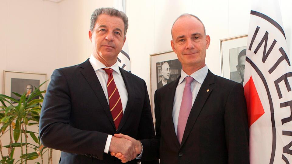 Serge Brammertz, Procureur du Mécanisme, et Gilles Carbonnier, Vice Président du CICR