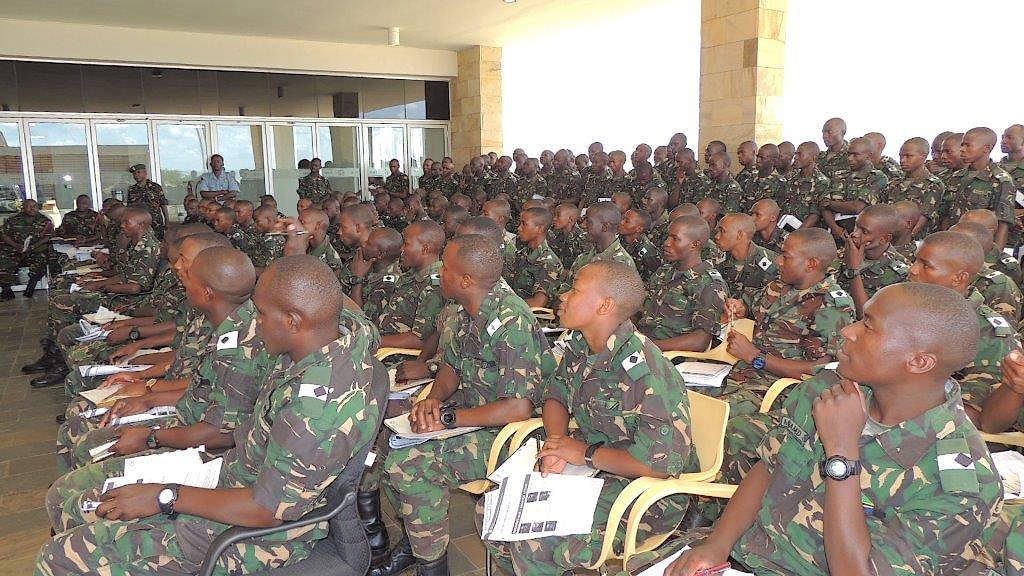 Cadets from the Tanzanian Military Academy visit the Mechanism in Arusha