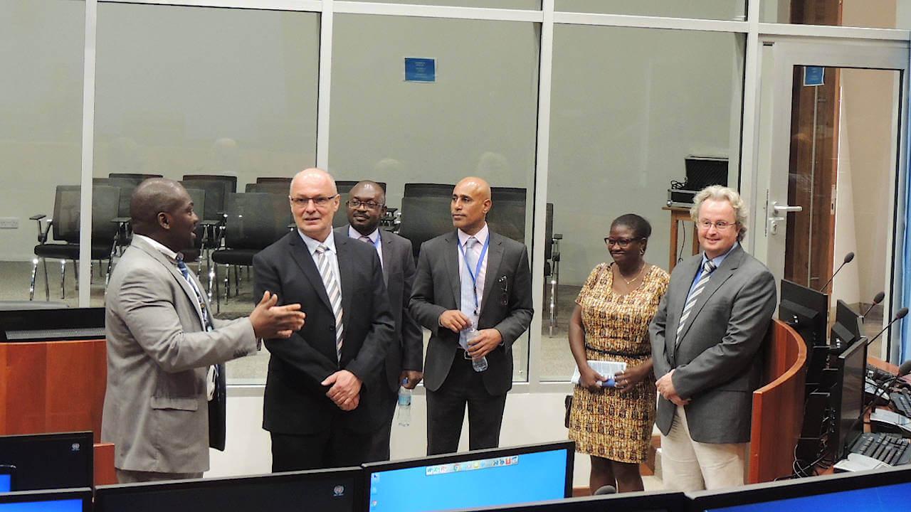 H.E. Mr. Peter VAN ACKER, Ambassador of the Kingdom of Belgium visiting the Mechanism Court Room