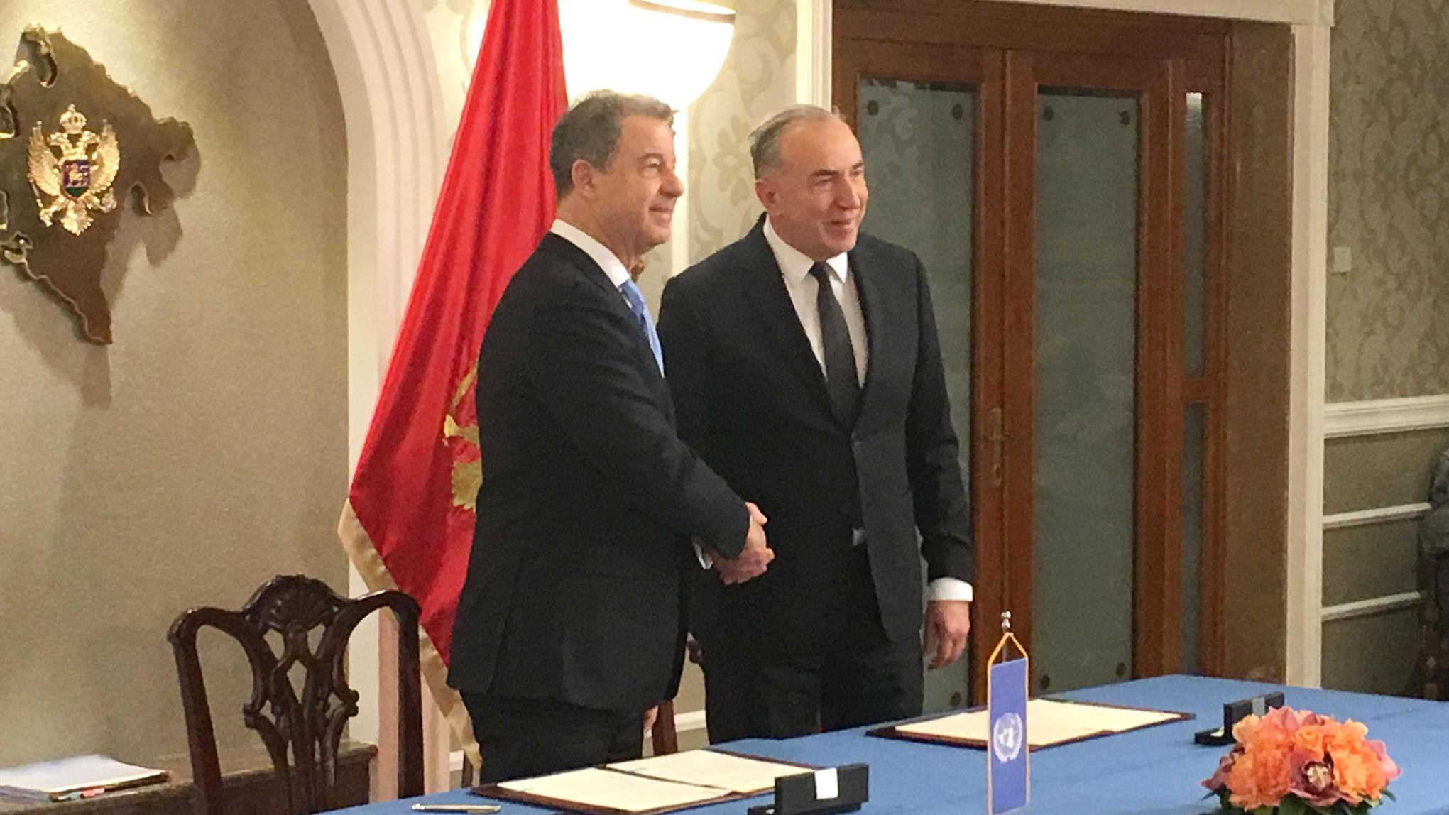 Mechanism Chief Prosecutor Serge Brammertz and Supreme State Prosecutor of Montenegro Ivica Stanković
