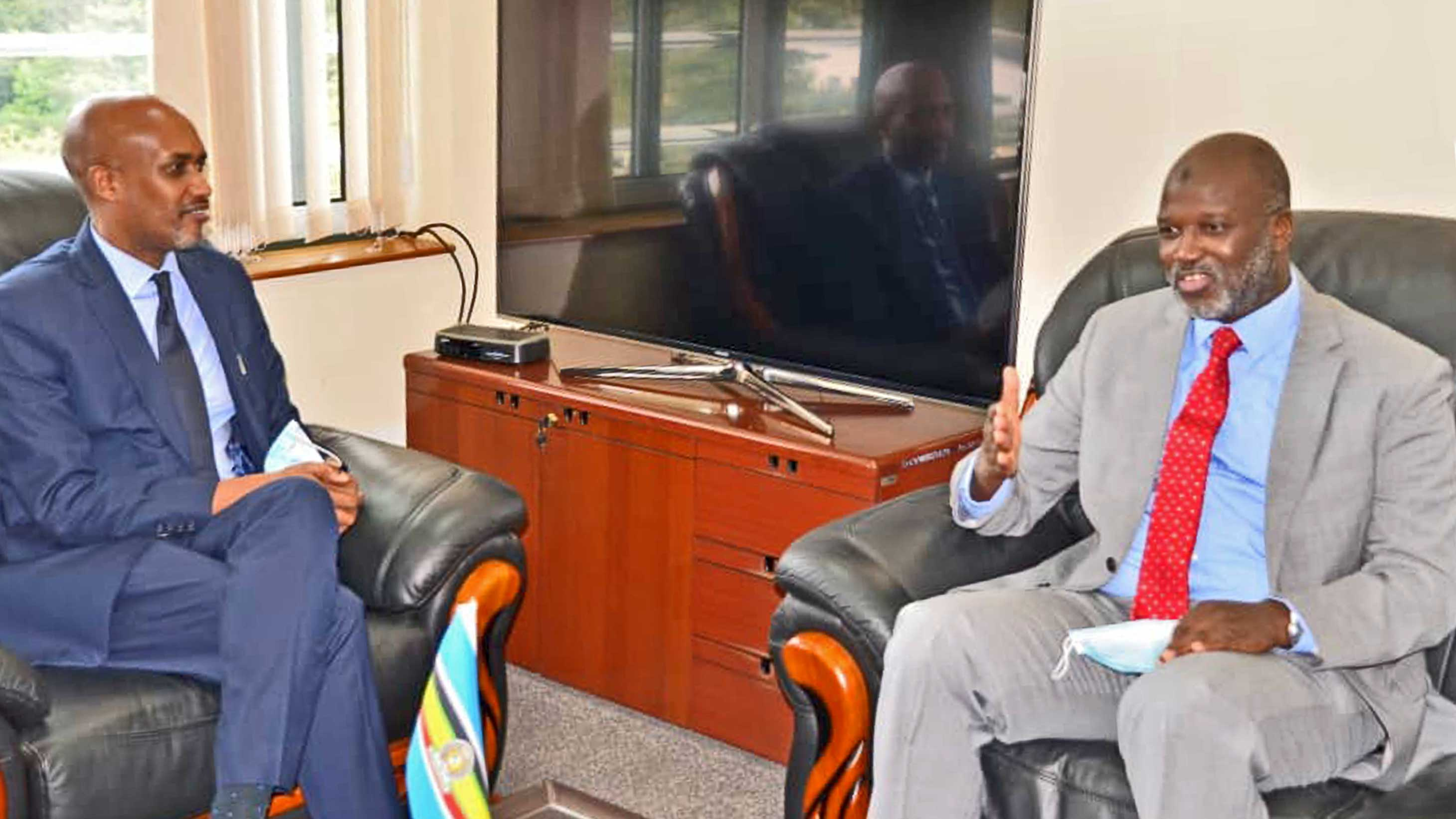 IRMCT Registrar, Mr. Abubacarr Tambadou and Dr. Emmanuel Ugirashebuja, President of the East African Court of Justice.