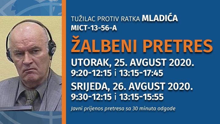 Žalbeni pretres u predmetu Ratko Mladić