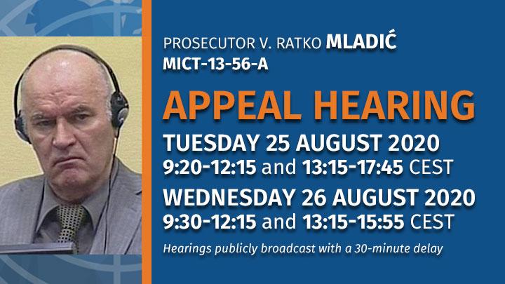 Mladić Ratko Appeal Hearing