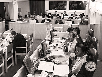 Court hearing during the 'Butare case'